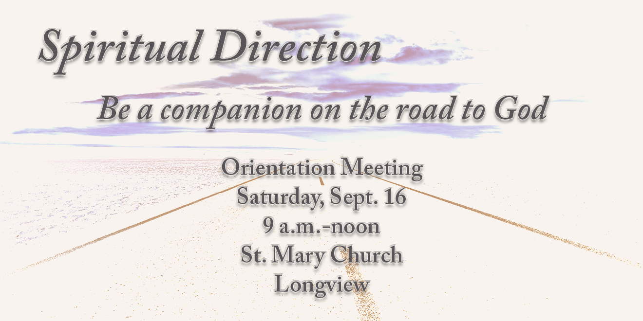 Orientation Meeting for Spiritual Direction Training Set for Sept