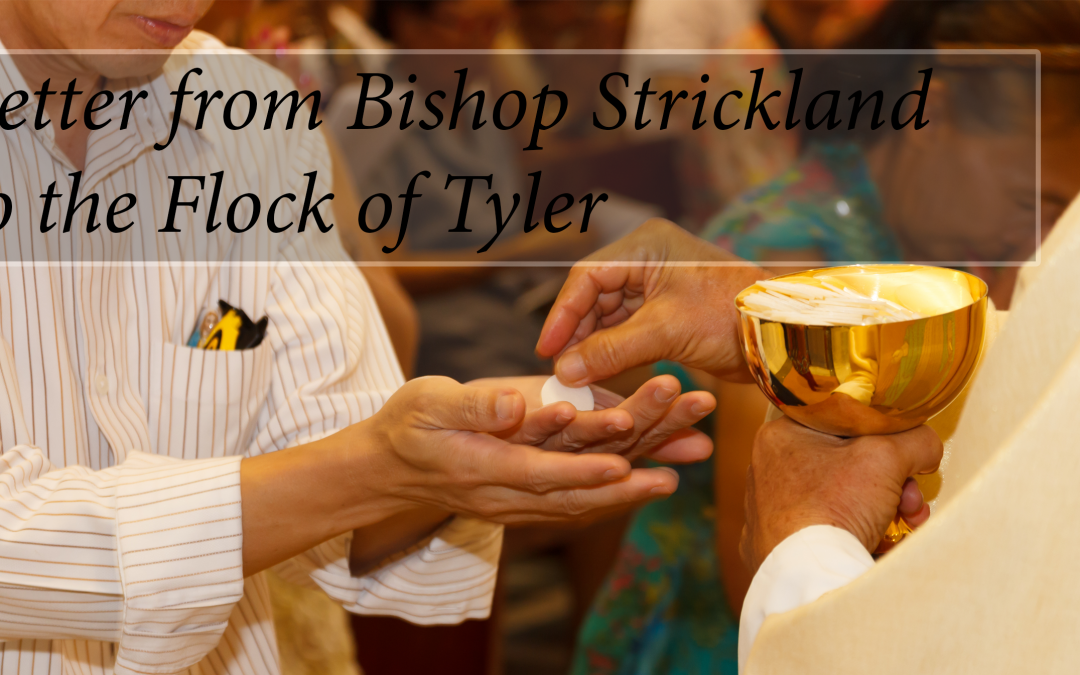 Letter from Bishop Strickland to the Flock of Tyler