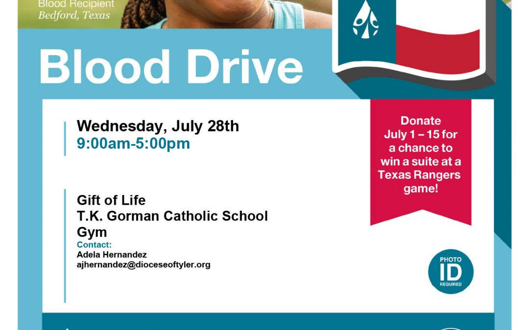 Gift of Life Blood Drive June 28 in Tyler: Free Rangers Tickets