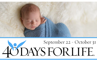 40 Days for Life Set for Sept. 22 to Oct. 31